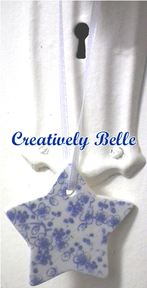 Handcrafted porcelain Christmas tree decorations by Creatively Belle